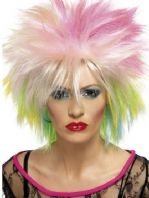 80's Attitude Multi Coloured Wig (42023)